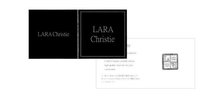 ララクリスティーのブランド品質証明書